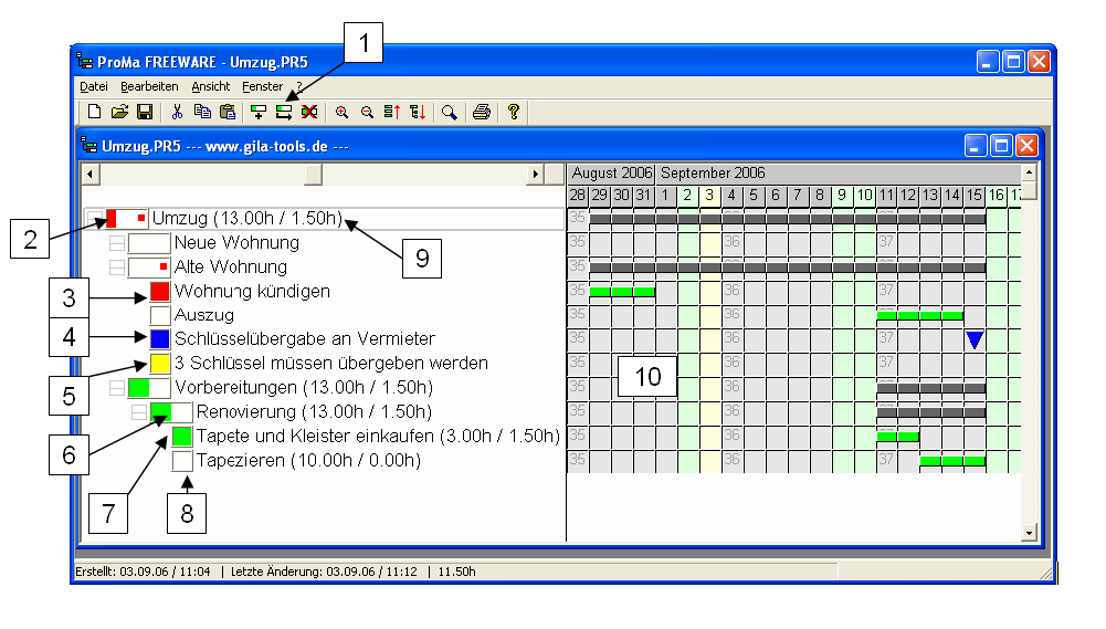 Screenshot ProMa Freeware